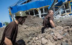 Ополченцы в окопе в поселке Семеновка © РИА Новости, Андрей Стенин