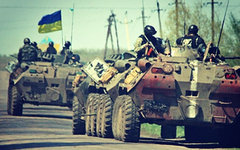 Украинский спецназ под Славянском. Фото пользователя Instagram sashakots