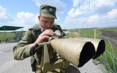 Российский пограничник © РИА Новости, Александр Кондратюк