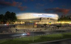 Модель стадиона после реконструкции. Изображение с сайта arena-park.ru