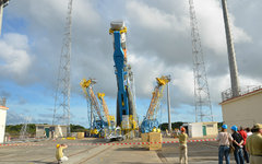 «Союз» на космодроме Куру. Фото с сайта federalspace.ru
