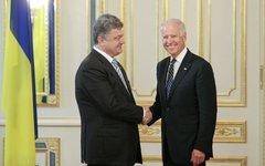 Петр Порошенко и Джозеф Байден. Фото из Facebook администрации президента