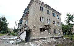 Разрушенный дом в Марьинке. © РИА Новости, Михаил Воскресенский