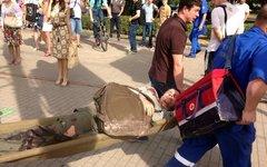 Эвакуация пострадавших на месте происшествия