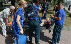 Оказание помощи одному из пострадавших © РИА Новости, Евгений Биятов