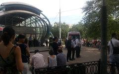 У станции «Славянский бульвар». Фото пользователя Твиттера @Serguman