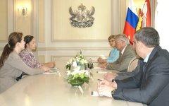 Встреча комиссара ООН с правительством Воронежской области. Фото с govvrn.ru