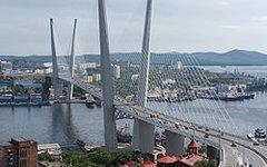 """Золотой мост"" во Владивостоке. Фото с сайта wikimedia.org"