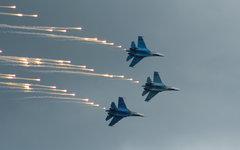 Истребители четвертого поколения Су-27 © KM.RU, Анастасия Ермолова