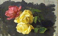 Картина «Розы» Исаака Левитана. Изображение с сайта artlib.ru