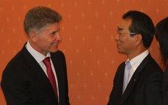 Олег Кожемяко на встрече. Фото пресс-службы правительства Амурской области