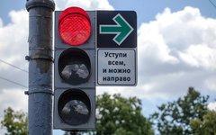 Экспериментальный дорожный знак. Фото с сайта probok.net