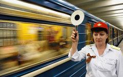 Дежурная по станции в московском метро © РИА Новости, Сергей Пятаков