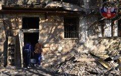 Последствия обстрела Киевского района Донецка 17 сентября.Фото с сайта dnr.today