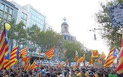Демонстрация за независимость Каталонии. Фото с сайта wikipedia.org