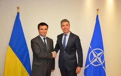 Павел Климкин и генсек НАТО Андерс Фог Расмуссен. Фото с сайта МИД Украины