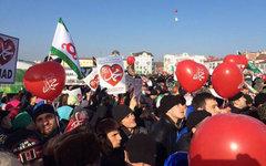 Митинг. Фото со страницы сообщества «Братство Вайнахов» в «ВКонтакте»