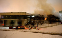 Пожар в библиотеке ИНИОН © РИА Новости, Владимир Астапкович