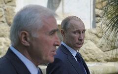 Президенты Южной Осетии и РФ © РИА Новости, Алексей Дружинин