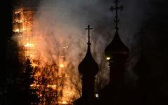 Пожар в Новодевичьем монастыре © РИА Новости, Владимир Астапкович