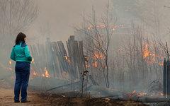 Пожар на окраине Абакана © РИА Новости, Денис Мукимов