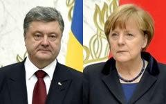 Петр Порошенко и Ангела Меркель. Фото с сайта president.gov.ua