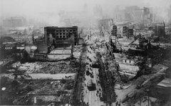 Последствия землетрясения, Сан-Франциско 1906 год. Фото с сайта wikimedia.org