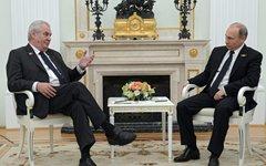 Владимир Путин и Милош Земан © РИА Новости, Григорий Сысоев