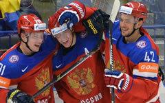 Хоккеисты сборной России © РИА Новости, Алексей Куденко