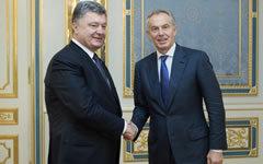 Петр Порошенко и Тони Блэр. Фото с сайта president.gov.ua