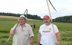 Жерар Депардье и Александр Лукашенко. Фото с сайта president.gov.by