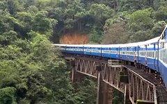 Поезд в Индии. Стоп-кадр из видео в YouTube