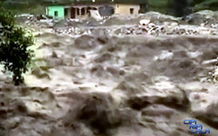 Наводнение в Индии. Стоп-кадр с видео cipiripilala в YouTube
