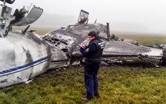 Крушение самолета Falcon. Фото с сайта sledcom.ru