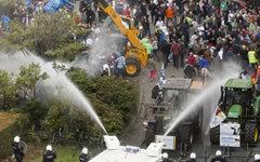 Акция протеста в Брюсселе © РИА Новости Тьерри Монасс