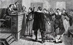 Зал суда. Иллюстрация 1876 года. Изображение с сайта wikimedia.org