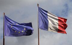 Флаги Евросоюза и Франции © KM.RU, Илья Шабардин