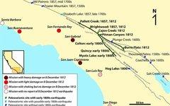 Карта юга Калифорнии