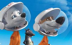 Фрагмент постера к мультфильму «Белка и Стрелка. Звездные собаки»