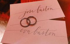 Обручальные кольца Евы Лонгории и Хосе Бастона. Фото: Facebook актрисы
