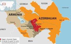 Карта Нагорного Карабаха. Изображение с сайта wikimedia.org