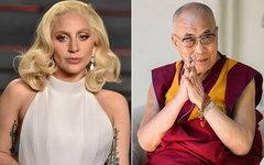 Lady GaGa и Далай-лама. Фото со страницы артистки в Facebook