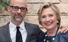 Моби и Хиллари Клинтон. Фото с офстраницы музыканта в Facebook