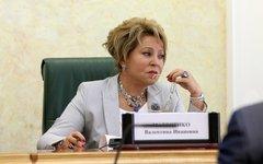 Валентина Матвиенко. Фото с сайта Совета Федерации
