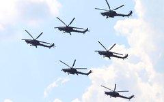 Выступление боевых вертолетов МИ-28Н © KM.RU, Илья Шабардин