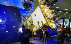 Модель КА Глонасс-К на выставке CeBIT. Фото с сайта wikimedia.org