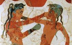 Часть фрески с острова Санторин. Фото с сайта wikimedia.org