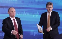Владимир Путин и Дмитрий Песков © KM.RU, Алексей Белкин