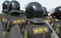 Бойцы внутренних войск МВД