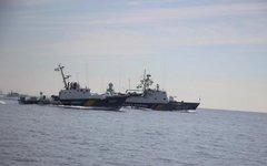 Украинские корабли в Азовском море